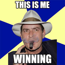 Charlie Sheen Winning Meme - the hypervocal archives charlie sheen is just winning every second