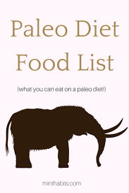 complete paleo diet food list what you can eat on a paleo diet