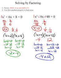 factoring quadratic equations solver