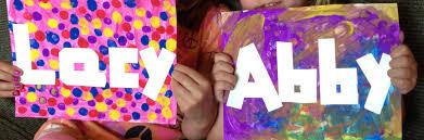 diy name art for kids pinching your pennies