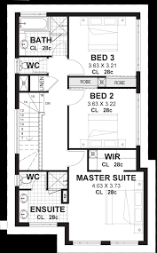 three bedroom townhouse floor plans 3 bedroom 2 storey home designs perth vision one homes
