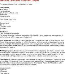 nursing resume cover letter samples registered nurse job seeking