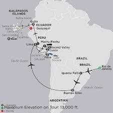 Galapagos Map Galápagos Island Cruise Tour Cosmos Affordable Tours