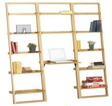 Easy Crate Leaning Shelf And by Bamboo Leaning Bookcase And Desk Apartment Therapy