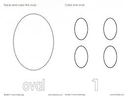 best photos of preschool shapes oval oval shape coloring page