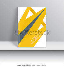 Origami Cd Cover - magazine cover origami intersecting ribbons book stock vector