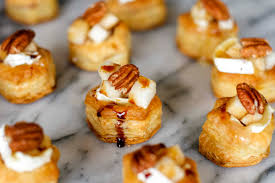 baked brie bites with diced pear balsamic reduction unsophisticook