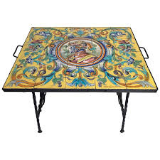 wrought iron tables for sale coffee table hand wrought ironle with spanish ceramic tile top for