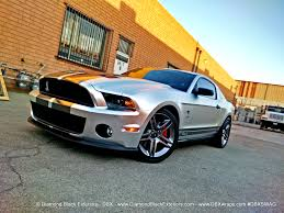 Silver Mustang With Black Stripes Project Mustang Shelby Gt500 By Dbx U2013 Wrapped In Frozen Chrome
