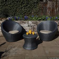 Egg Bistro Chairs Monaco 3 Rattan Effect Egg Bistro Garden Patio Set Robert Dyas
