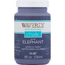 how much chalk paint do i need for kitchen cabinets waverly inspirations 60711e chalk paint ultra matte elephant 8 fl oz walmart