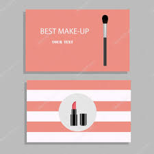 makeup artist business card vector template with makeup items pattern vector by olhachernova27