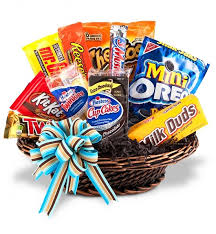 food baskets junk food basket gift ideas gift and basket ideas