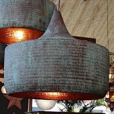 Hammered Copper Pendant Light Let There Be Light Lovely Lighting