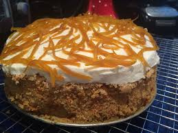 gluten free carrot cake with mascarpone frosting u0026 candied orange