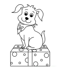 cute christmas puppy coloring pages 1681 christmas dog coloring