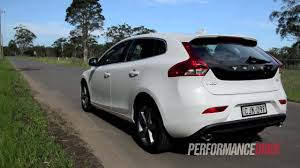 2013 volvo v40 d4 kinetic engine sound and 0 100km h youtube