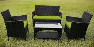 merax outdoor garden furniture 4 piece lounge seating group