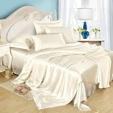 White Silk Bedding Sets 19 Momme Seamless Silk Sheets Set Silk Sheets
