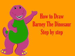 how to draw barney the dinosaur step by step youtube