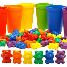 Matching Colors by Amazon Com Rainbow Counting Bears With Matching Sorting Cups