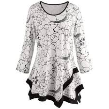 black and white blouse 3 4 sleeve shirts for less overstock com