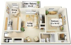 2 bedroom 1 bath floor plans pinewood glen and spruce creek apartments