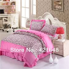 Leopard King Size Comforter Set Free Shipping Luxury 3 4pcs Pink Leopard Bedding Set Twin Full