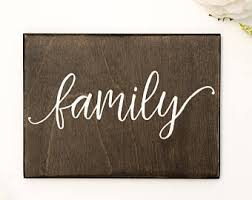 wood family sign etsy