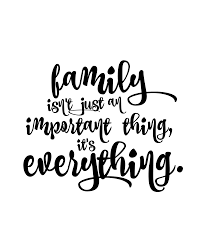 family is everything free printable 8x10 floral black and