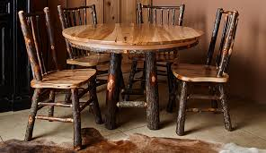 Hickory Dining Room Chairs by Round Hickory Dining Table Colorado Classics
