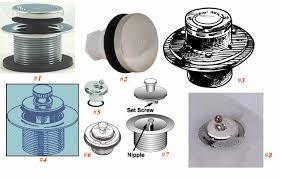 Bathtub Drain Mechanism Diagram Remove Bathtub Drain Stopper Lift Turn Push Pull Stopper Removal