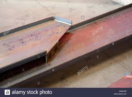 steel stair stringers at a miscellaneous metals fabrication shop