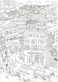 city coloring pages high resolution free coloring pages for kids
