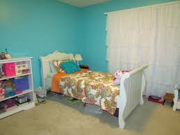 blue green room theme on the wall with paint combined white f