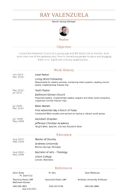 Pastor Resume Template Lead Pastor Resume Sles Visualcv Resume Sles Database