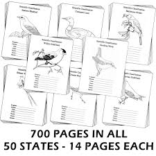 All Fifty States Chsh Teach Studying The Usa State Birds Notebooking Bundle
