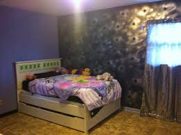 Periwinkle Bedroom Bedroom Pinterest Best Color For by Periwinkle Room With Black Trim And Black And Silver Accent Wall