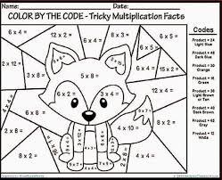 printable multiplication activity sheets multiplication coloring page 4th grade coloring pages