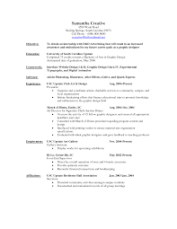 Sample Resume Objectives For Customer Service by Download Advertising Internship Sample Resume