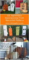 Halloween Crafts Made Out Of Paper by 25 Best Pallet Halloween Decorations Ideas On Pinterest Diy
