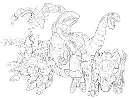 4 dinobots coloring pages