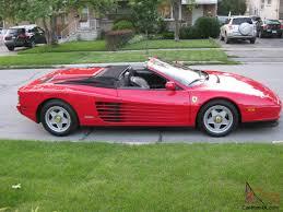 1989 testarossa for sale testarossa spider power top convertible 48 000 conversion