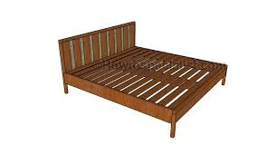 king platform bed plans howtospecialist how to build step by