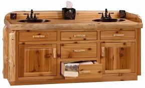 Rustic Bathroom Vanity Cabinets by Custom Cedar Log 72