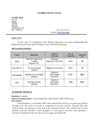 Sample Resume For Fresh College Graduate Sample Resume 4 For Fresh Engineering Graduates