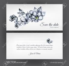 vector wedding invitation two sided card with vintage
