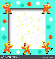 illustration of circus clown frame