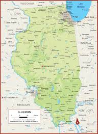 of illinois map illinois physical state map