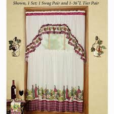 Grape Kitchen Curtains 18 Best Kitchen Curtain Images On Pinterest Kitchen Curtains